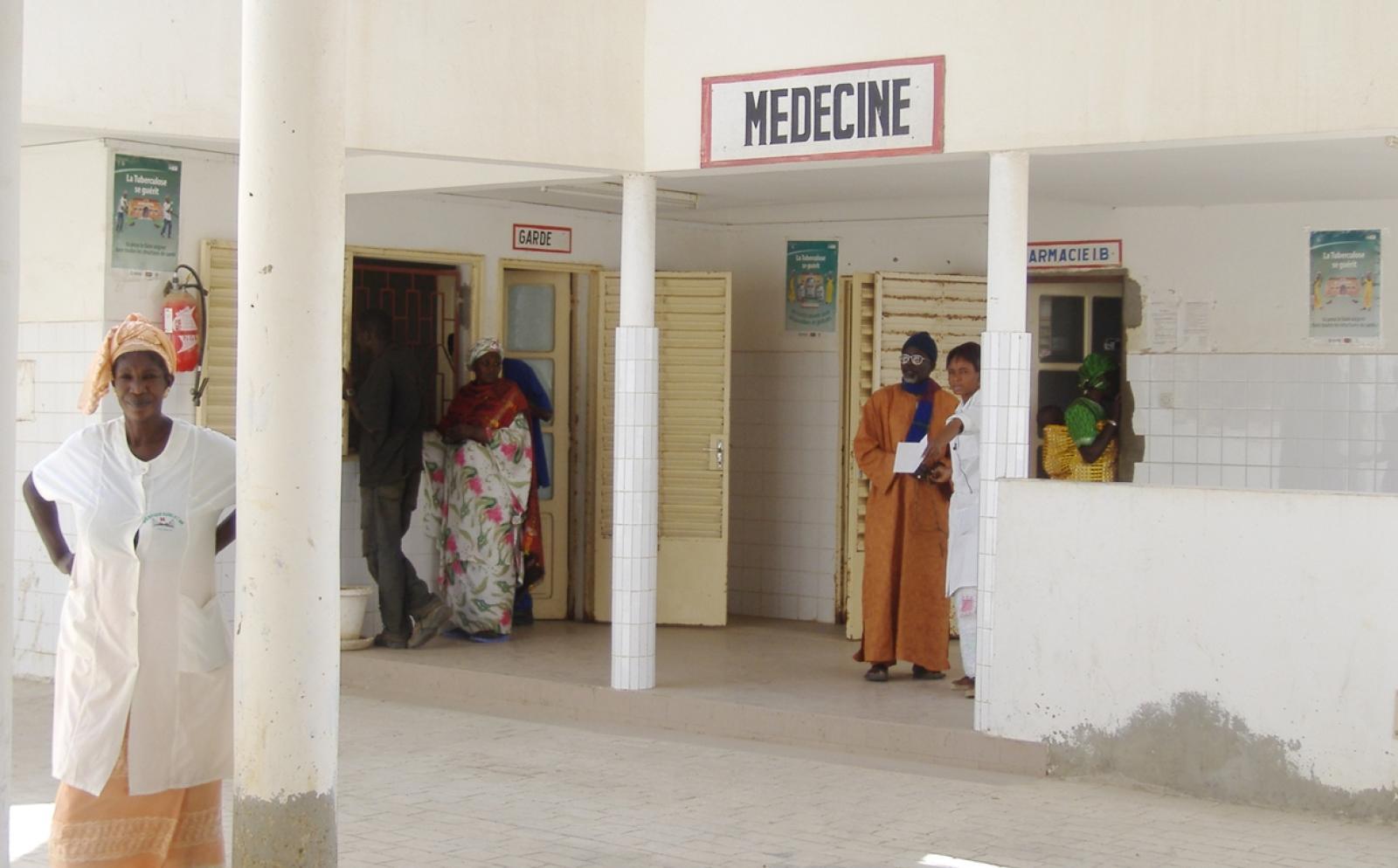 アフリカの町の病院